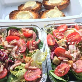 Salade et toasts chèvre