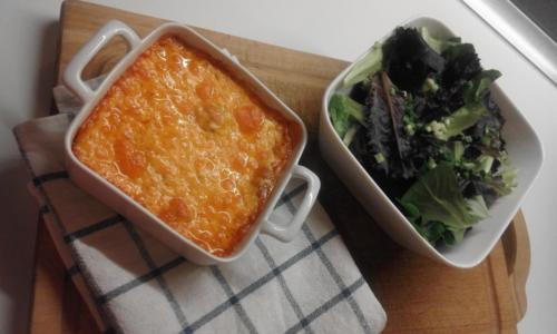 welsh et salade de jeunes pousses