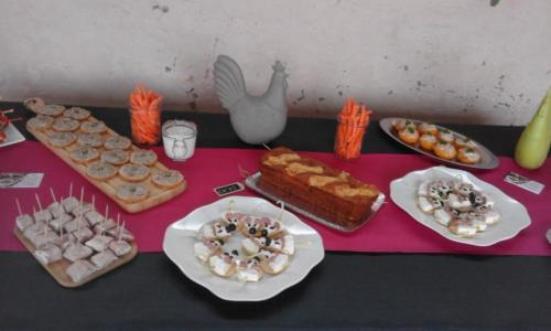 buffet apéro en salle des fêtes