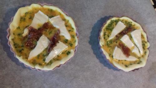 Tartelette chèvre/tomates