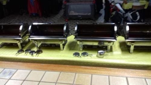 buffet chaud (service en chafing dish)